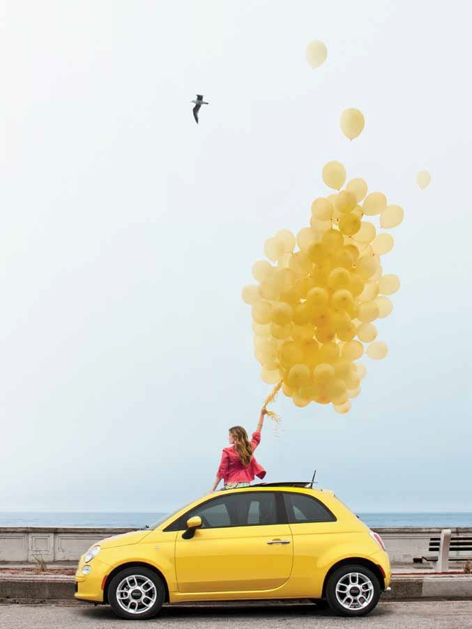 2012 fiat 500 pop yellow