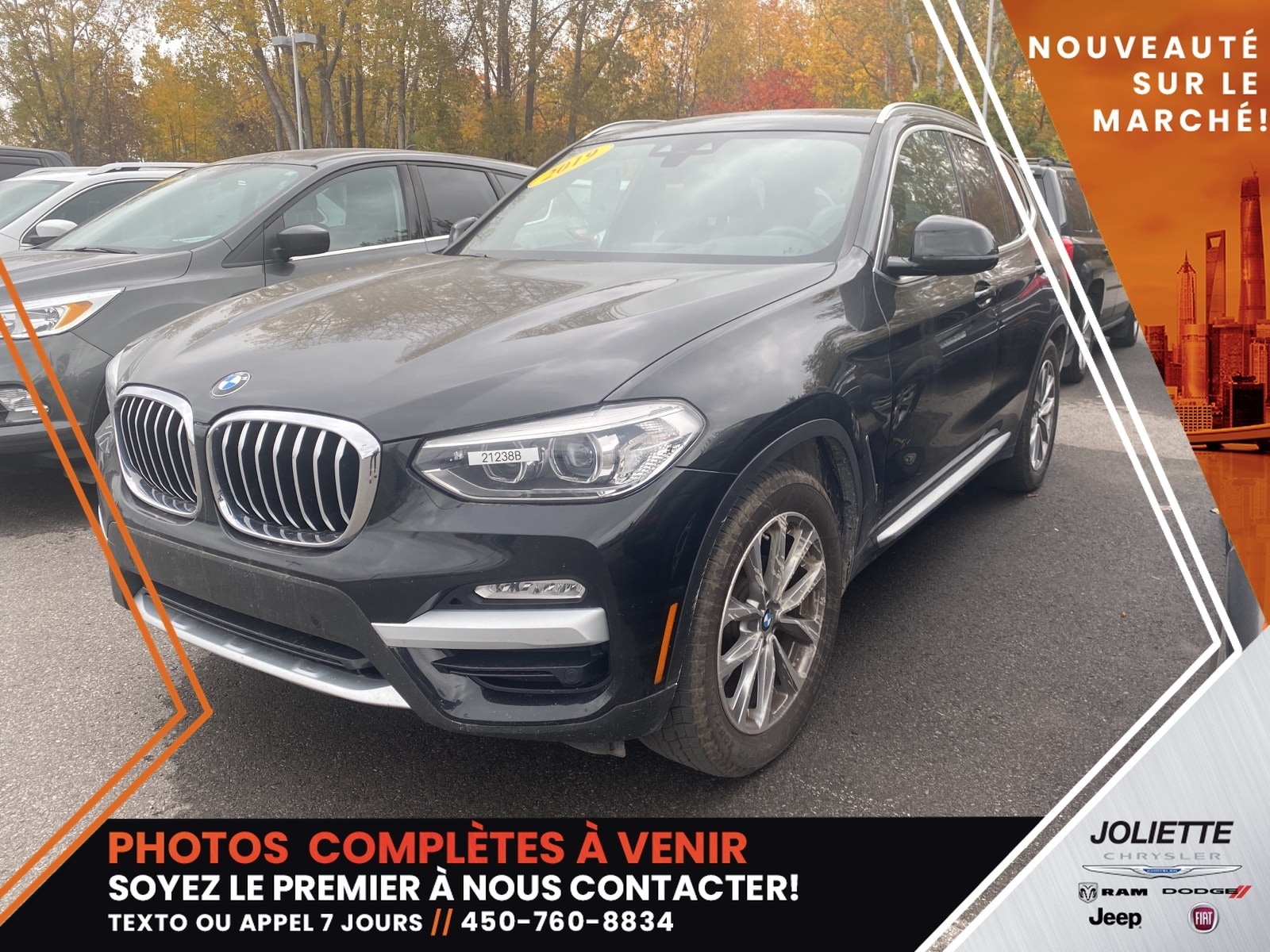 BMW X3 2019 xDrive30i CUIR NAV TOIT REGULATEUR ADAPTATIF