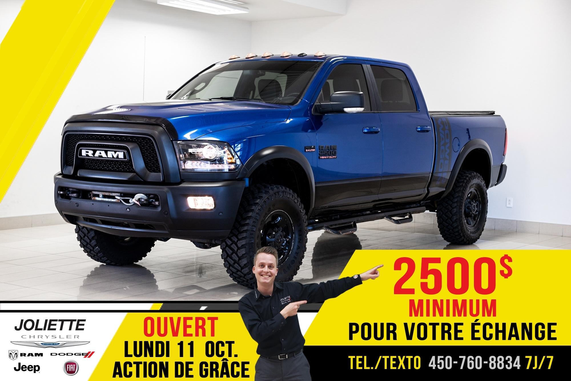Ram 2500 2017 Power Wagon, TOIT, GPS, DEMARREUR!!