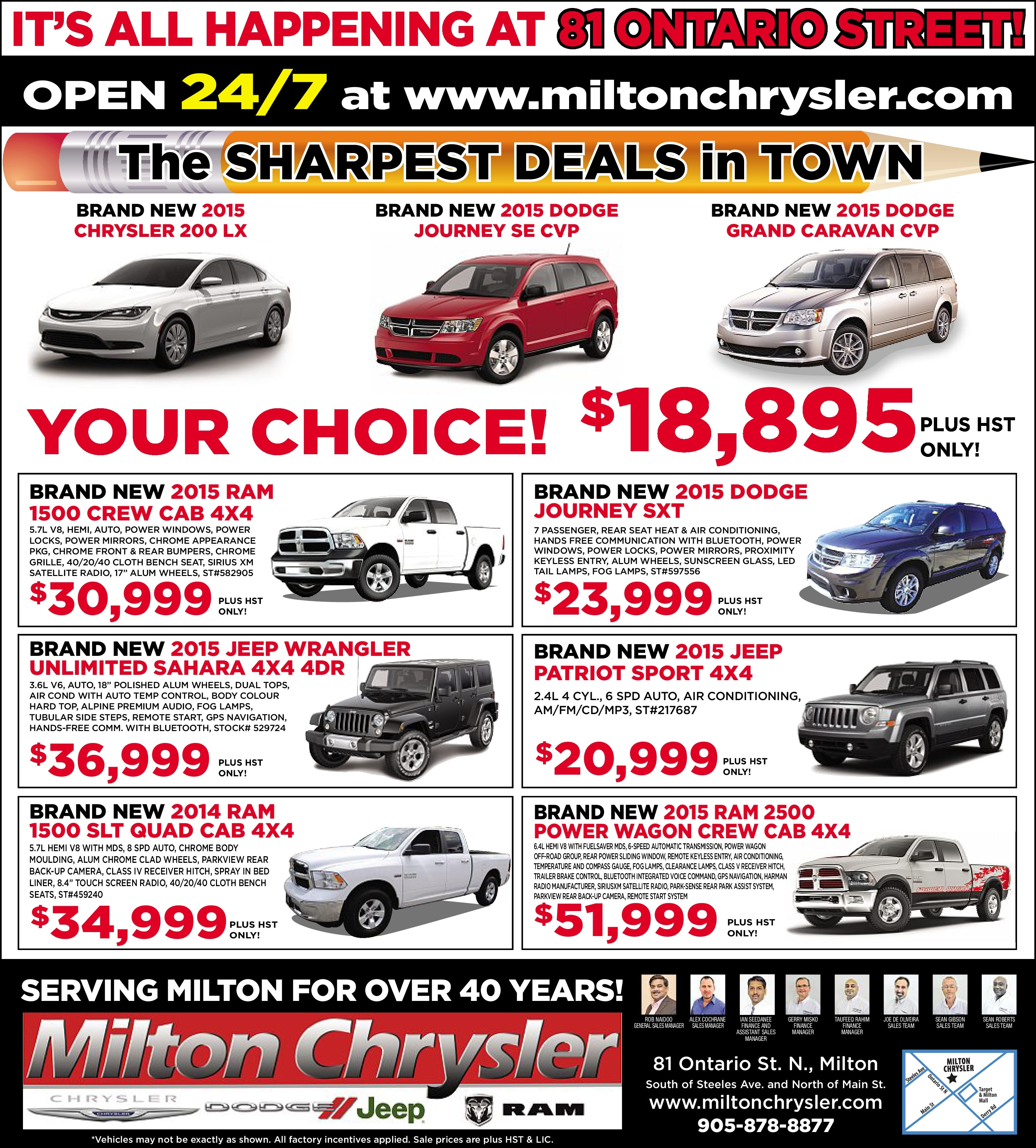 Ontario Chrysler Jeep Dodge Ram: Milton Chrysler Dodge Limited