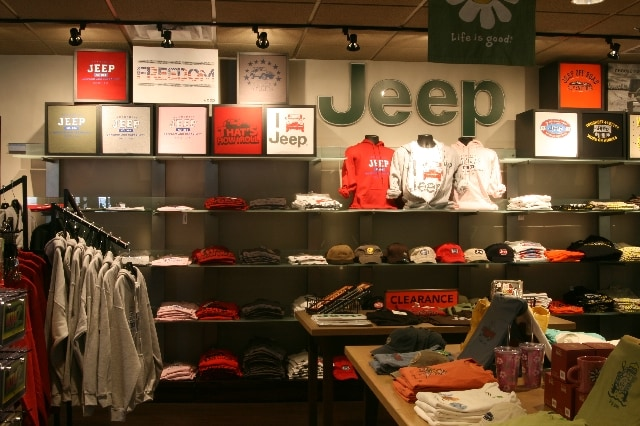 Jeep clothing store