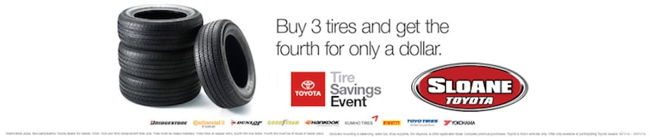 Toyota Tire Center  New Tires Tire Rotations and more  Sloane