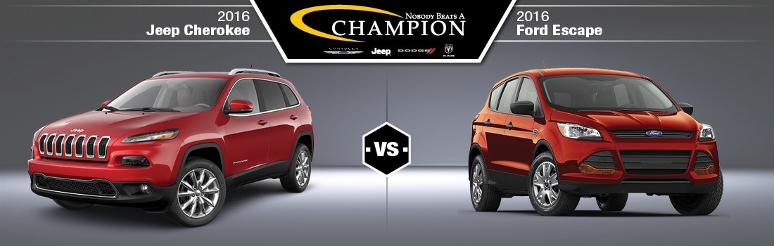 2016 Jeep Cherokee vs 2016 Ford Escape