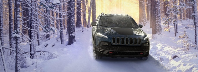 2017 Jeep Cherokee in Snow