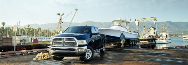 RAM 3500 Parked in Harbor