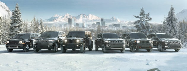 2017 Jeep Lineup in Winter