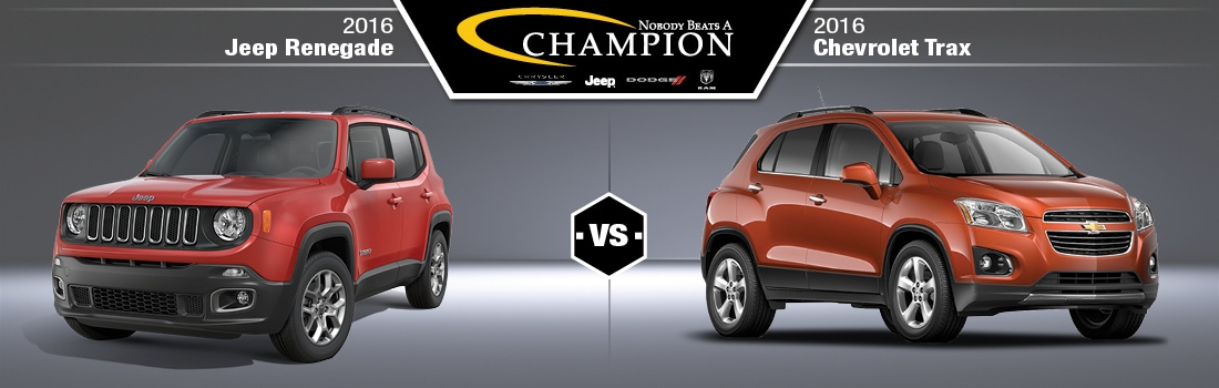 2016 Jeep Renegade vs 2016 Chevy Trax