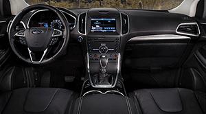 ceramic white leather interior image 2015 ford edge titanium with ebony leather interior