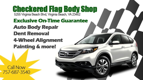 auto body shop norfolk checkered flag honda collision