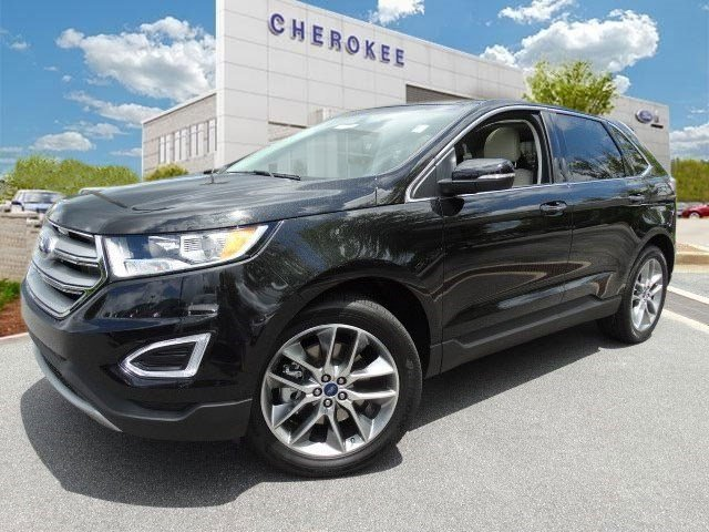 2015 Ford Edge Titanium Take command of the road in the 2015 Ford Edge Blurring highway lines wit