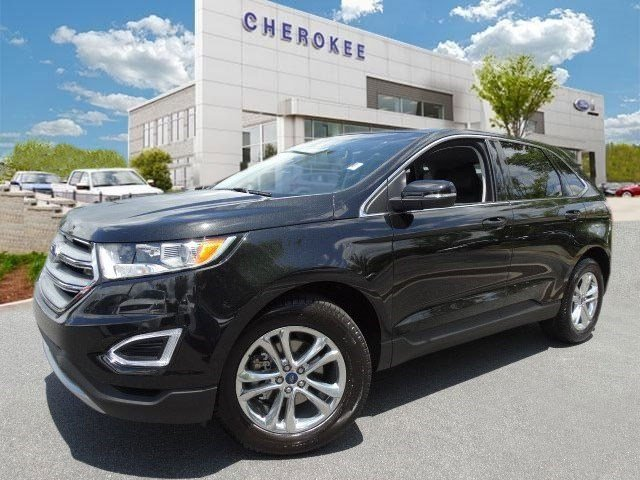 2015 Ford Edge SEL Climb inside the 2015 Ford Edge Blurring highway lines with an exceptional mer