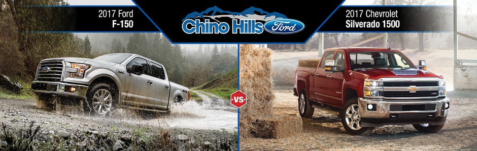 2017 ford f 150 vs chevy silverado 1500 in chino ca. Black Bedroom Furniture Sets. Home Design Ideas