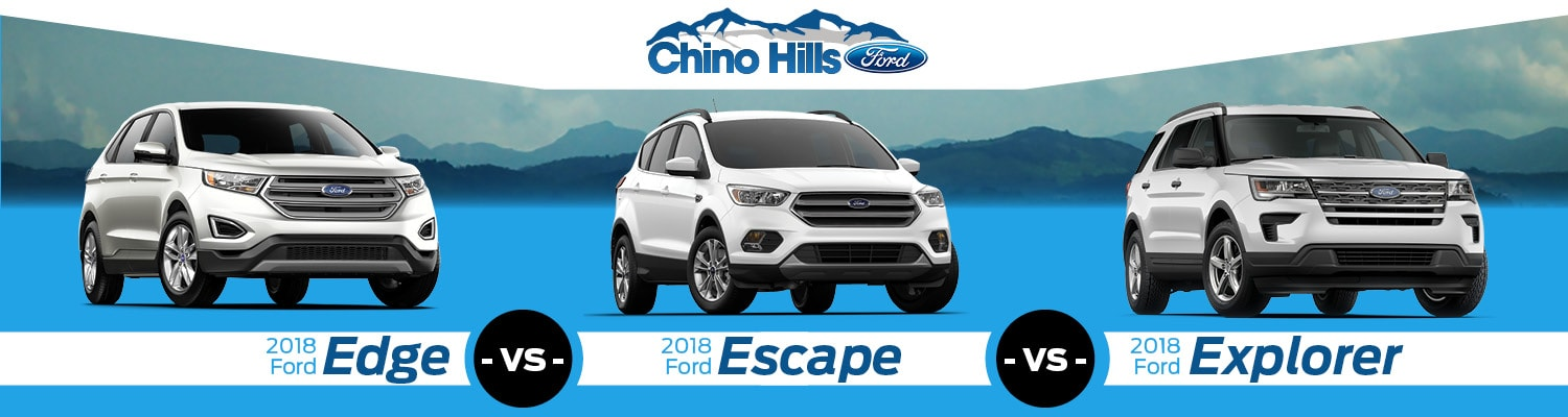 Ford Edge Vs Escape Vs Explorer