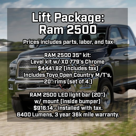 Lift Packages For Jeeps Amp Ram Trucks In Cartersville Ga