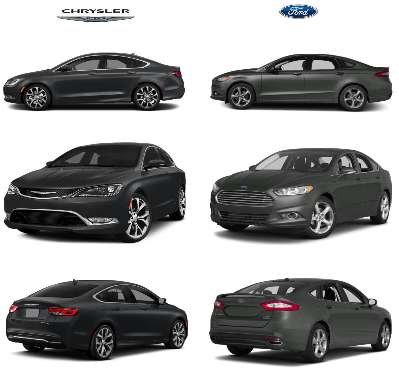 Chrysler 200 vs ford fusion