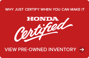 Certified Used Honda Cars and Trucks