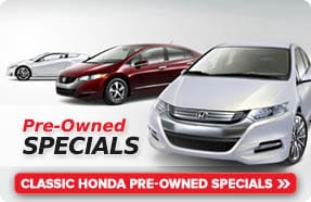 Pre-Owned Used Car Specials