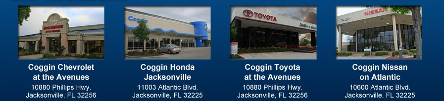 Coggin automotive group new bmw acura buick ford for Coggin honda jacksonville fl