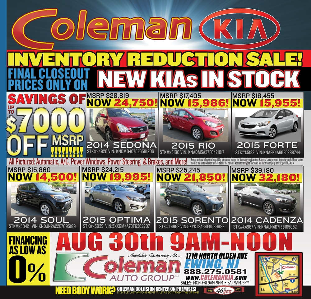 Print Ads Coleman Auto Group