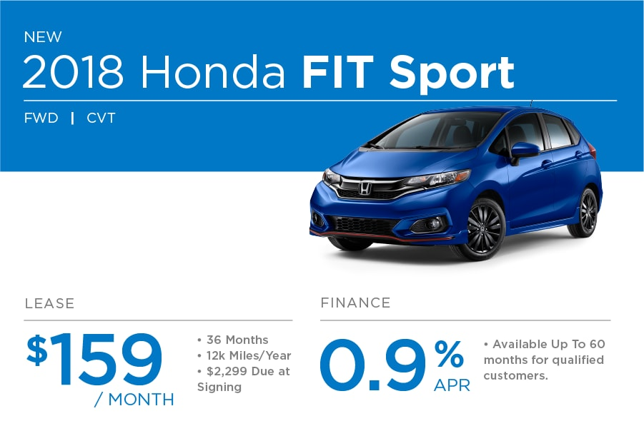 Wonderful Honda Fit Special Offer