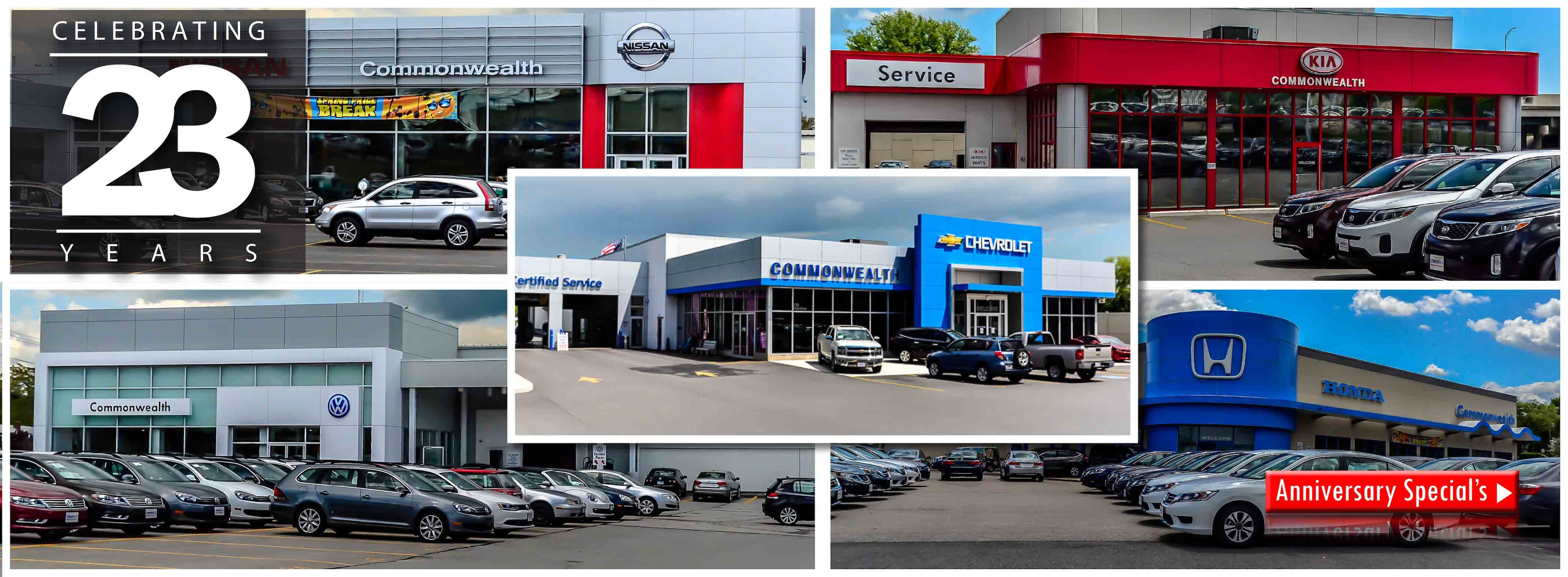 Commonwealth motors new chevrolet kia honda Commonwealth motors used cars