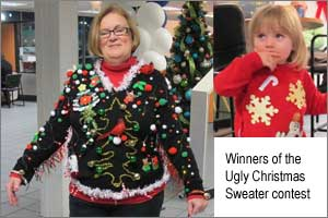 After welcoming the participants at the Honda showroom with refreshments and snacks, there were games, including an ugly Christmas sweater contest