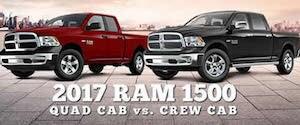 2017 RAM 1500 Crew Cab vs RAM 1500 Quad Cab near Manchester