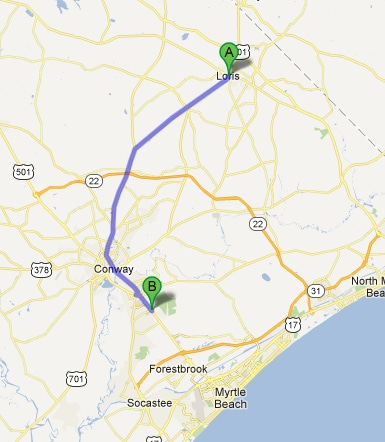 Directions To Conway Chrysler Dodge Jeep Ram From Loris