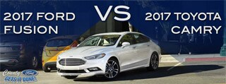 2017 Ford Fusion vs. 2017 Toyota Camry in Burlington NC