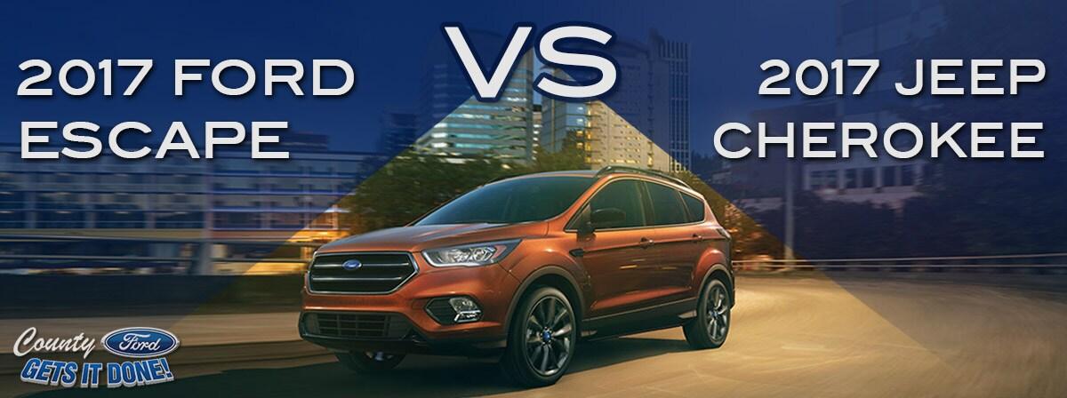2017 Ford Escape vs. 2016 Jeep Cherokee