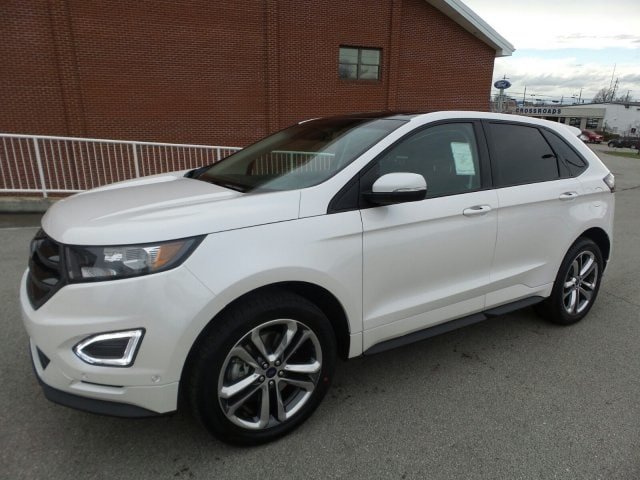 new 2015 ford edge sport awd white platinum metallic tri coat for sale lexington frankfort ky. Black Bedroom Furniture Sets. Home Design Ideas