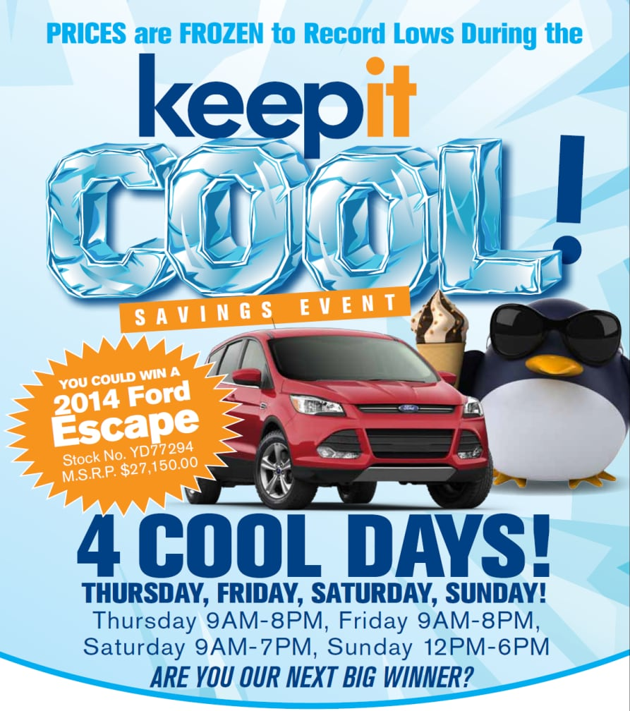 Keep it cool sales event