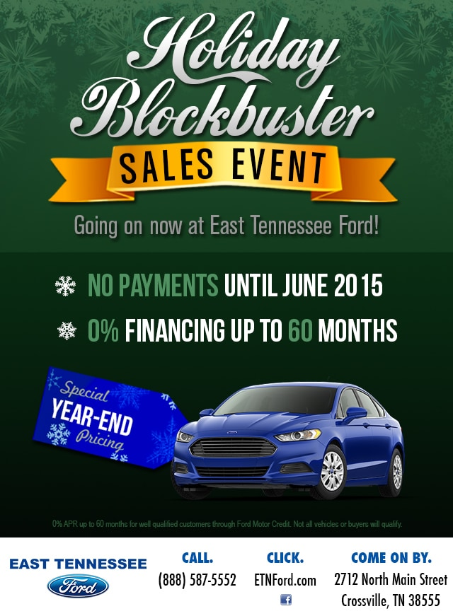 East Tennessee Ford Sales Events