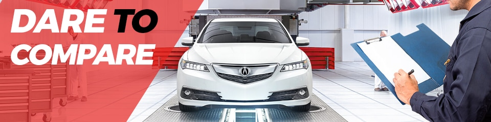 Acura Dare To Compare Service Pricing