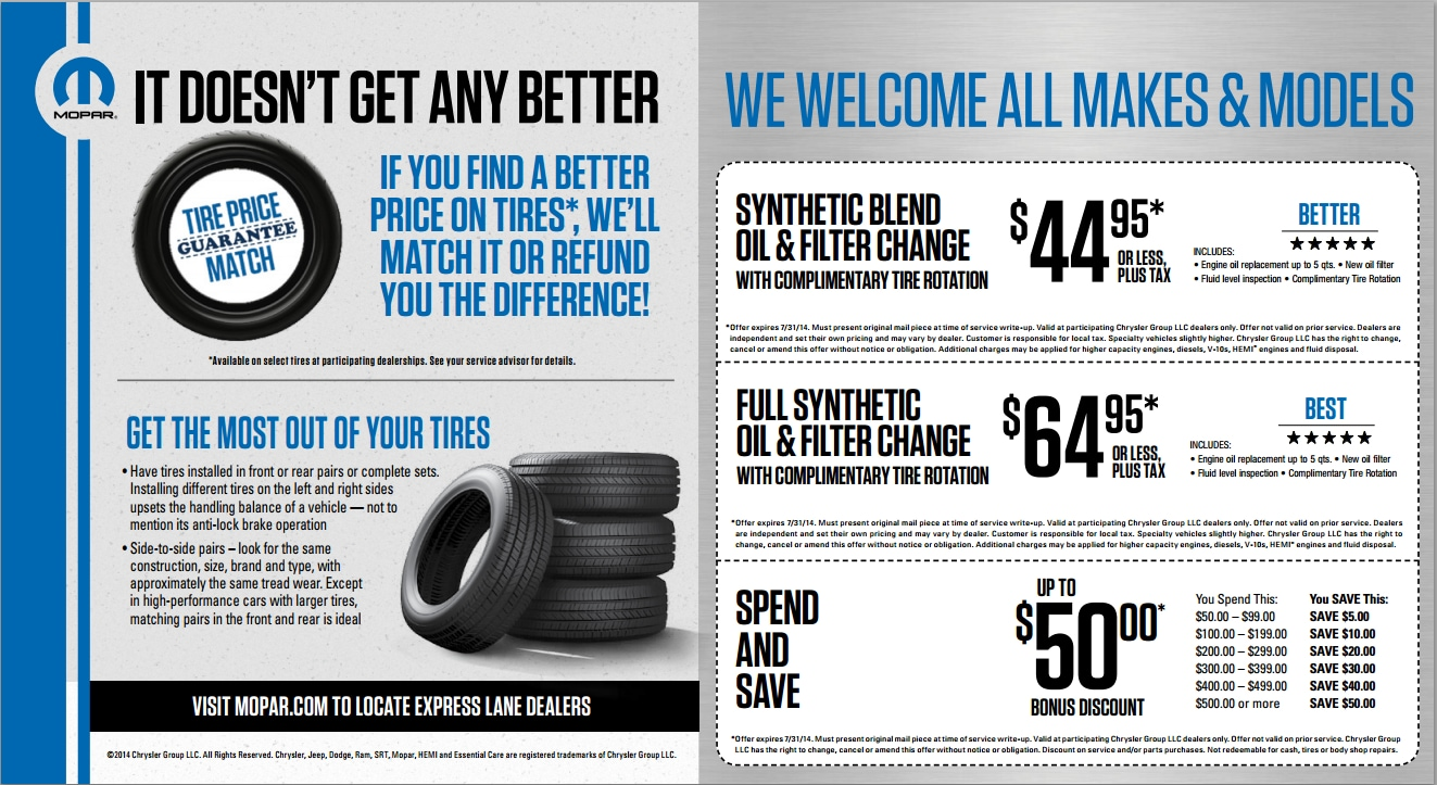 Crown jeep service coupons