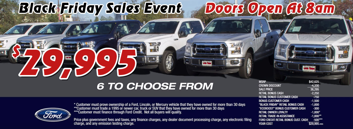 Ford dealership redding ca for Crown motors ford redding
