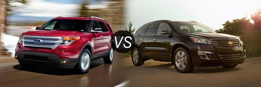 2015 Ford Explorer vs Chevy Traverse