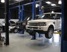 Land Rover Service Bays