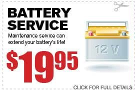Coupon Battery Service | Camelback Ford Phoenix AZ Discount