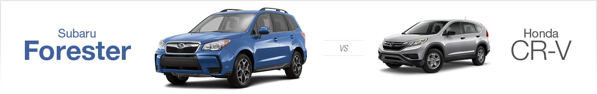 Subaru Forester vs Honda CR-V