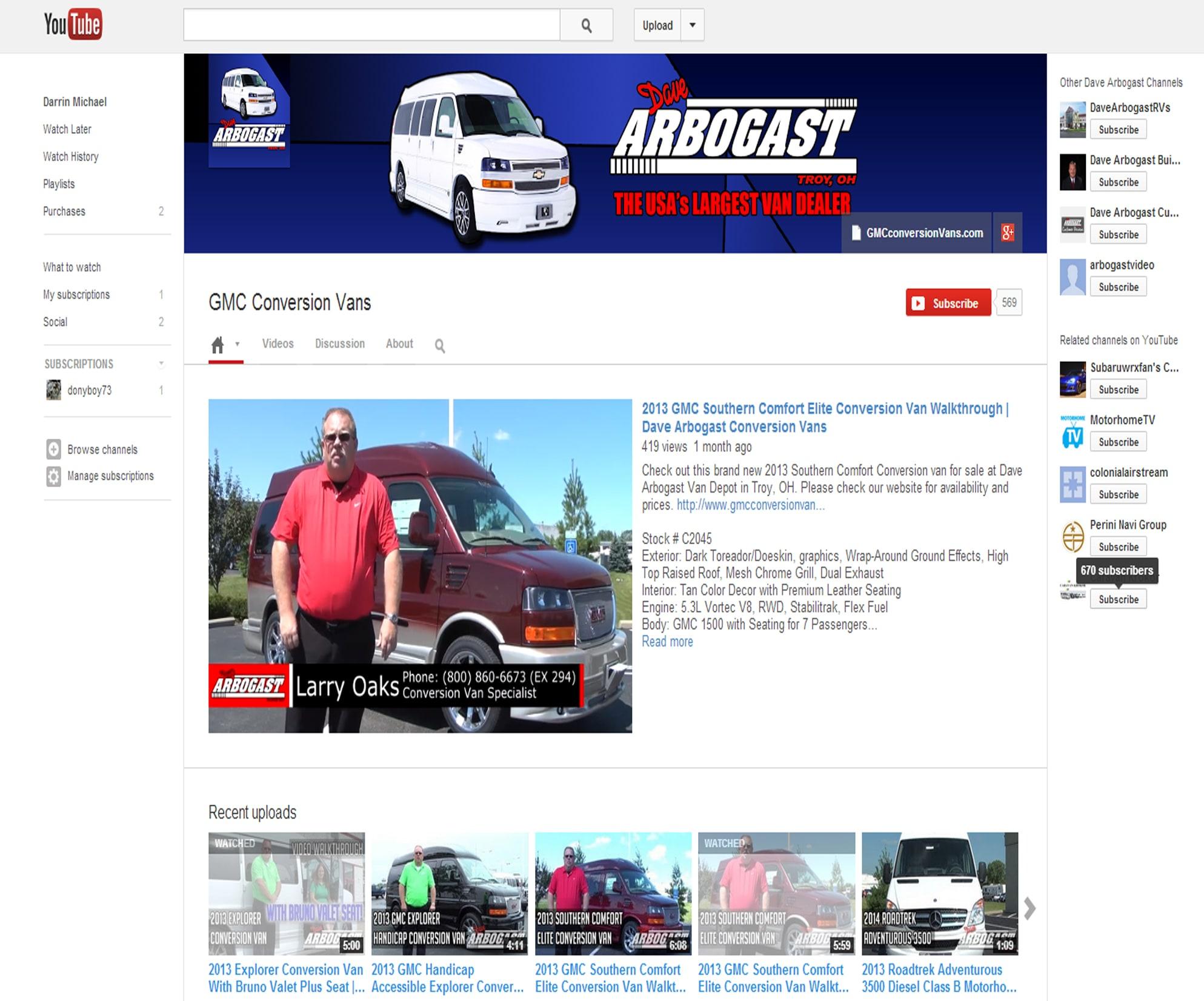 Dave Arbogast Conversion Vans