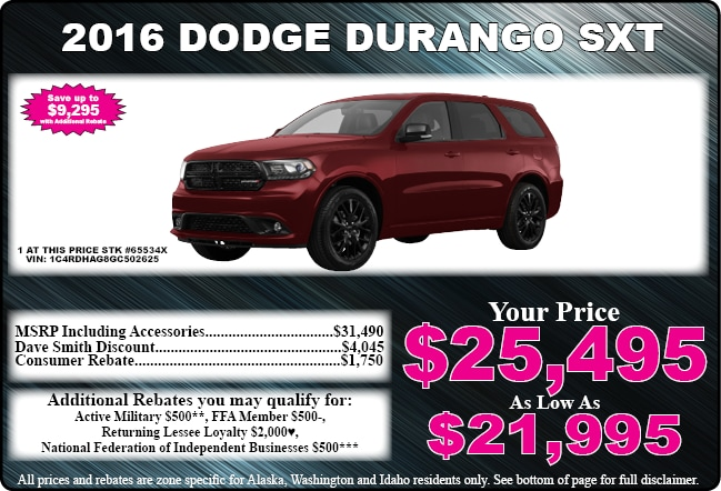 Chrysler Dodge Jeep Ram Special Offers Dave Smith