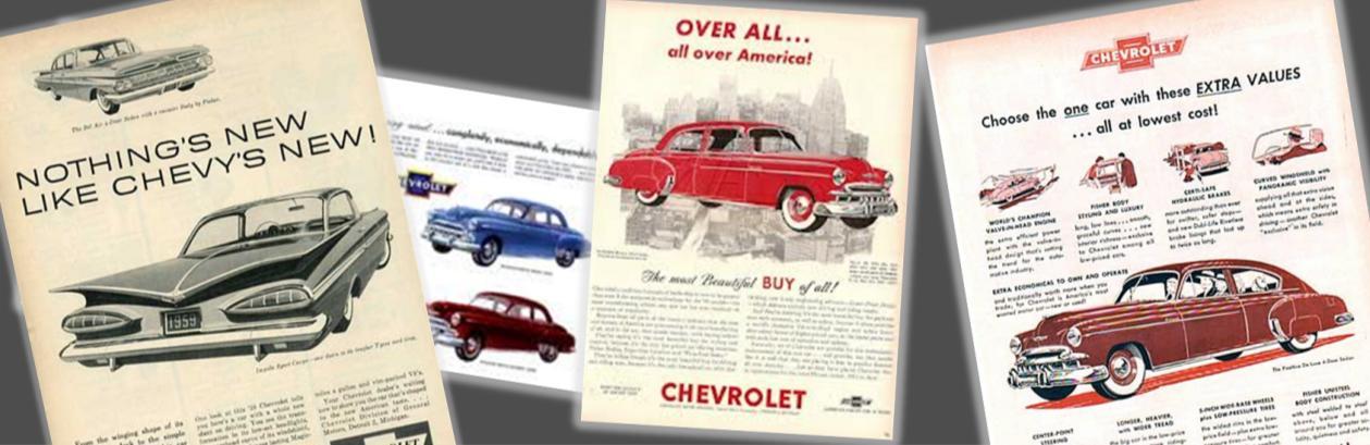 chevy brochures, chevrolet brochures, online chevy brochures