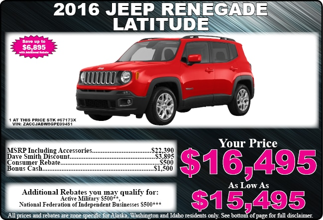New car specials on trucks cars and suvs dave smith for Dave smith motors hours
