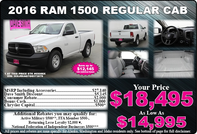 Chrysler, Dodge, Jeep, & Ram Special Offers | Dave Smith ...
