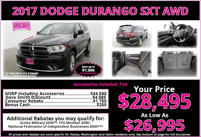 New car specials on trucks cars and suvs dave smith for Dave smith motors reviews
