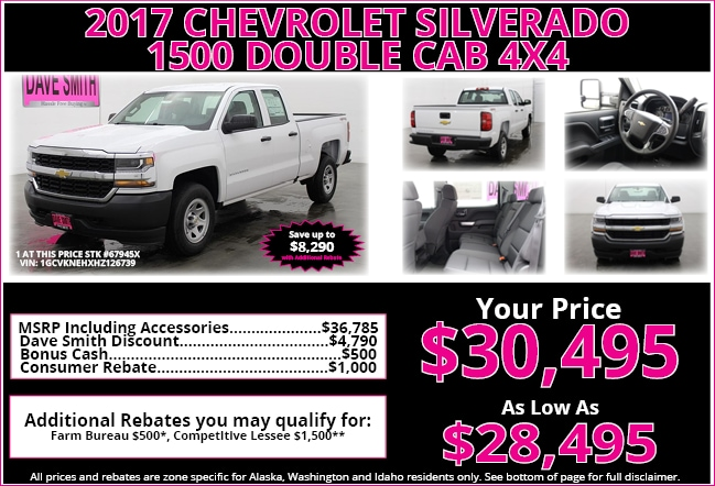 Gm specials offered at dave smith motors in kellogg for Dave smith motors kellogg id
