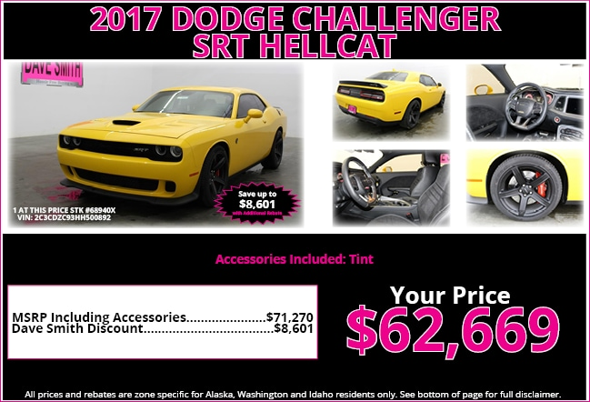 Dave smith dodge 2017 dodge challenger srt hellcat srt for Dave smith motors locations