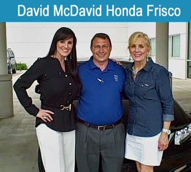 David mcdavid honda new honda dealership serving irving for Honda frisco service