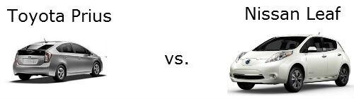 toyota prius versus nissan leaf comparison dayton toyota. Black Bedroom Furniture Sets. Home Design Ideas